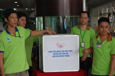 Nhân viên Tân Hiệp Phát tổ chức quyên góp ủng hộ ngư dân miền Trung
