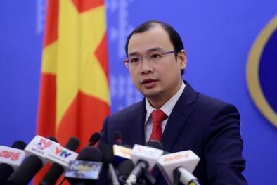 Kiên quyết phản đối Đài Loan đưa quan chức ra đảo Ba Bình