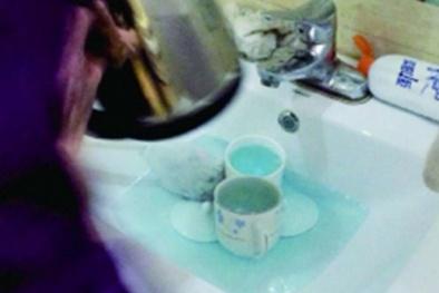 Kinh hãi rửa tách trà cho khách bằng... nước tẩy bồn cầu