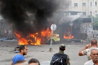 Người chết như 'ngả rạ' giữa đường sau khi IS đánh bom liên hoàn ở Syria