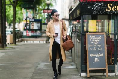 Ngắm thời trang nam chất lừ của Lê Xuân Tiền trên đường phố Paris