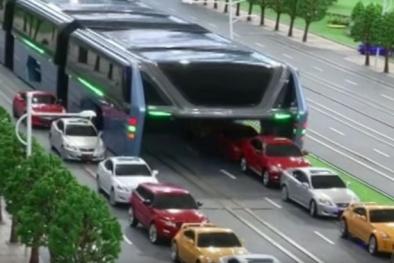 Trung Quốc: Sắp cho chạy thử 'xe buýt dạng chân' chống tắc nghẽn giao thông