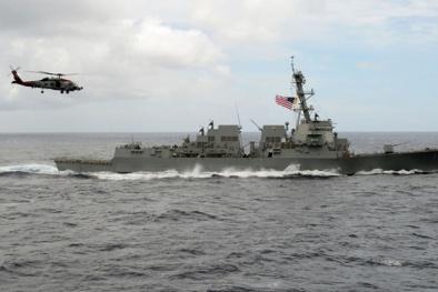 Tàu chiến Mỹ bí mật giăng 'thiên la địa võng' quanh đảo nhân tạo ở Biển Đông