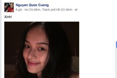 Cường đô la dí dỏm khen Hạ Vi 'xinh' nóng trên mạng xã hội