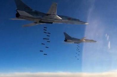 6 'thiên nga trắng' Tu-22M3 của Nga tung 'bão lửa', hủy diệt nhà máy vũ khí hóa học IS