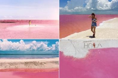 Những hồ nước màu hồng - thiên đường trên mặt đất