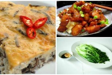 Thực đơn cơm tối siêu ngon, dễ làm với các thực phẩm quen thuộc
