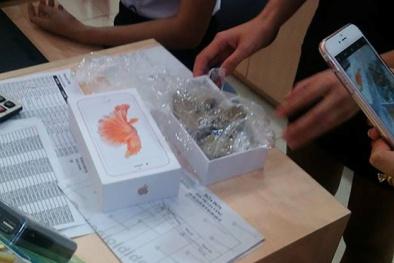 'Giật mình' khui hộp iPhone 6S chứa toàn sỏi đá ở Yên Bái