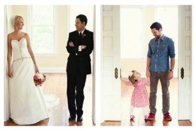 Xúc động bộ ảnh cưới 'bố và con gái' tưởng nhớ người vợ đã mất