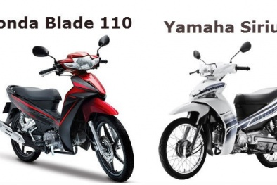 So sánh hai chiếc xe máy bán chạy nhất Yamaha Sirius và Honda Blade