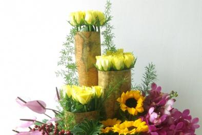 Ngày 20/11: 'Tấp nập' đơn hàng đặt lẵng hoa