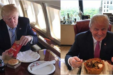 Bí ẩn thực đơn của ông Donald Trump