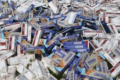 Hà Nội 'phá' vụ buôn thuốc lá nhập lậu lớn nhất từ năm 2012 đến nay