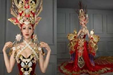 Ngắm cận cảnh bộ quốc phục dự thi của Khả Trang tại Hoa hậu Siêu quốc gia 2016