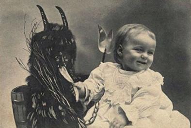 Con quỷ Giáng sinh Krampus thường trừng phạt những trẻ em không ngoan