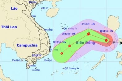 Tin mới nhất về cơn bão Nock-ten đang tiến thẳng vào biển Đông
