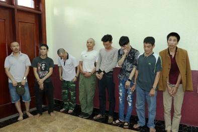 Hà Tĩnh: Phục kích bắt quả tang 9 đối tượng 'phê' ma túy