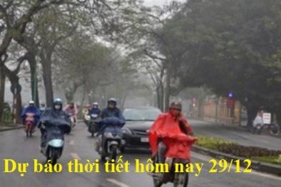 Dự báo thời tiết ngày 29/12: Không khí lạnh tăng cường