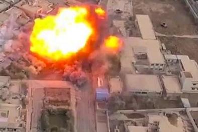 Hình ảnh IS đánh bom xe khắp thành phố Mosul