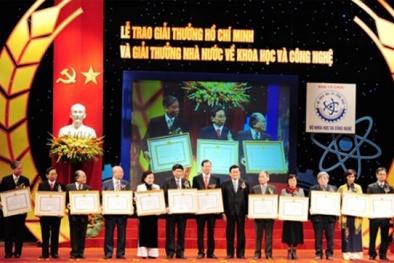 16 công trình xuất sắc được trao giải thưởng Hồ Chí Minh và giải thưởng Nhà nước về KH&CN