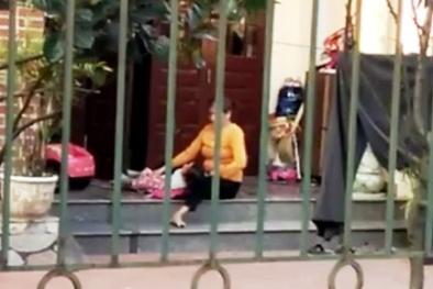 Hải Dương: Xôn xao clip bảo mẫu già thô bạo với trẻ nhỏ