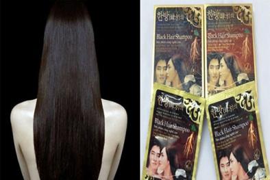 Tạm giữ hơn 1.000 gói dầu gội đen tóc Black Hair Shampo vô chủ