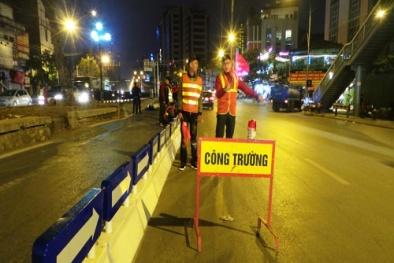 Hà Nội: Chính thức lắp dải phân cách cứng cho xe buýt nhanh BRT