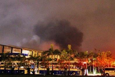 Tin tức mới nhất cháy nhà xưởng ôtô Trường Hải thiêu rụi nhiều lốp xe
