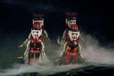 Múa rối nước: Nét văn hóa nghệ thuật độc đáo những ngày đầu xuân