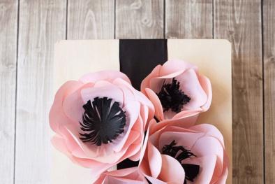 Cách làm hoa giấy đẹp trang trí hộp quà 8/3 'siêu' đơn giản