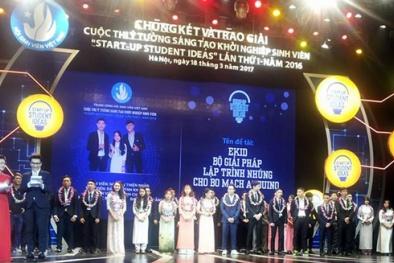 Sinh viên xuất sắc được trao giải cuộc thi ý tưởng sáng tạo khởi nghiệp