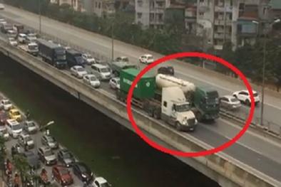 Xe bồn và container đi chậm cản trở giao thông trên vành đai 3 sẽ bị phạt thế nào?