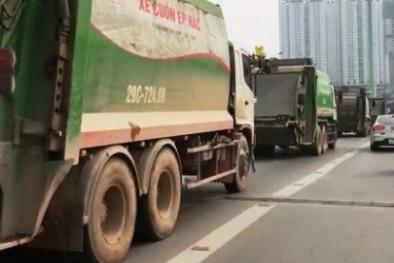 Xử lý nghiêm 4 xe rác đi vào làn buýt nhanh BRT Hà Nội