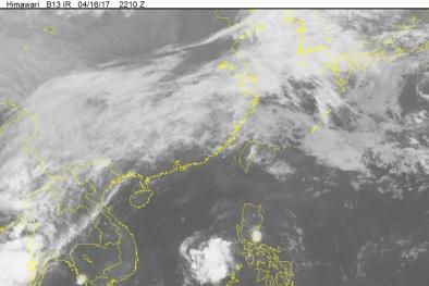 Áp thấp nhiệt đới đầu tiên trong năm 2017 bất ngờ xuất hiện trên biển Đông