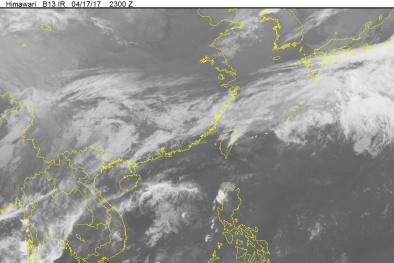 Áp thấp nhiệt đới suy yếu, Hà Nội có mưa rào và dông
