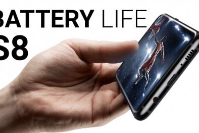 Kết quả thử nghiệm tuổi thọ pin của Samsung Galaxy S8 và S8+