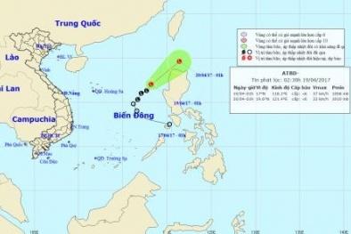 Xuất hiện vùng áp thấp ở trên biển Đông
