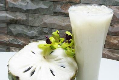Cách làm sinh tố mãng cầu sữa chua giúp đẹp da cho cả nhà cuối tuần