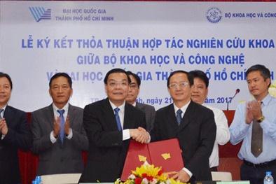 Tăng cường hợp tác, nghiên cứu khoa học giữa Bộ KH&CN và ĐH Quốc gia Tp. HCM