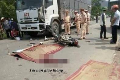 Tai nạn giao thông: Hai thanh niên tử vong sau va chạm với xe tải