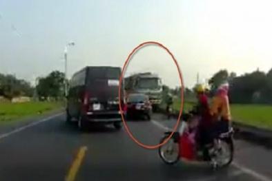 Lái xe tải tông tử vong 2 người đi xe máy ở Bắc Giang sẽ bị xử lý thế nào?