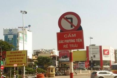 Người điều khiển ô tô cần chú ý về quy định mới về biển cấm rẽ?