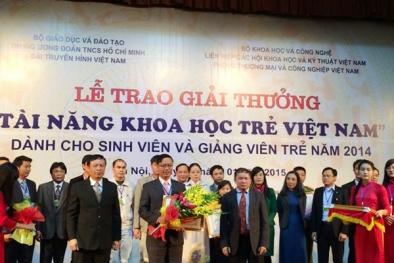Giải thưởng KH&CN dành cho giảng viên trẻ trong các cơ sở giáo dục đại học