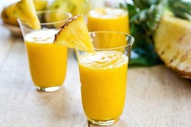Hạ nhiệt nhanh chóng với cách làm sinh tố dứa sữa chua ngon tuyệt