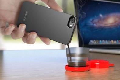 Ốp điện thoại trở thành máy pha cà phê