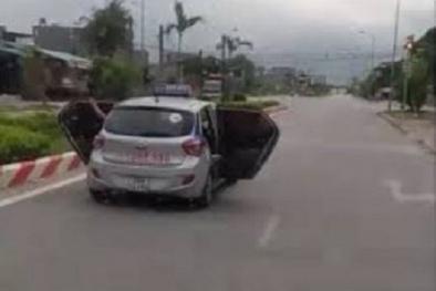 Diễn biến mới vụ lái xe taxi mở bung hai cánh cửa để chở người đi cấp cứu ở Thanh Hóa