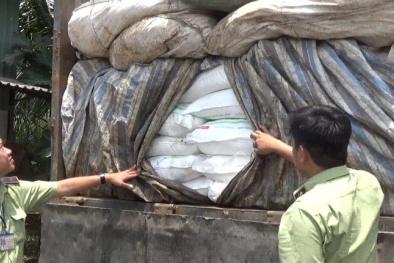 Phủ rác lên hơn 100 tấn đường lậu, chuyển vào tp.HCM