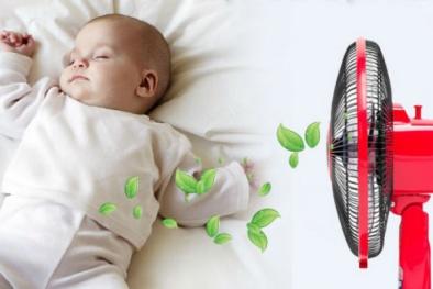 Hướng dẫn cách sử dụng quạt điện an toàn cho trẻ sơ sinh