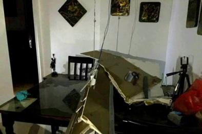 Cả mảng trần thạch cao ở chung cư Usilk City bất ngờ đổ sập