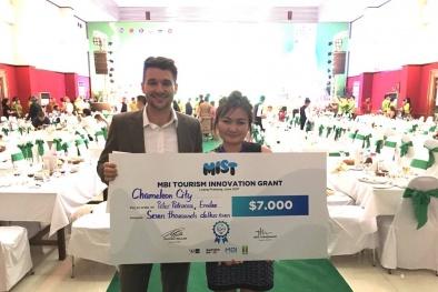 Đại diện Việt Nam đã nhận giải thưởng 7.000 USD startup về du lịch